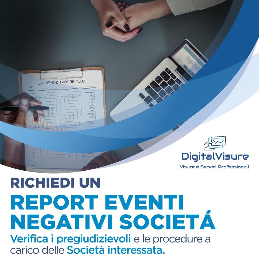 Report eventi negativi aziende digital visure